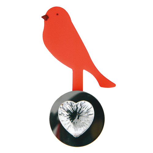 REMOVABLE MEMO HOLDER ''BIRD'' RED