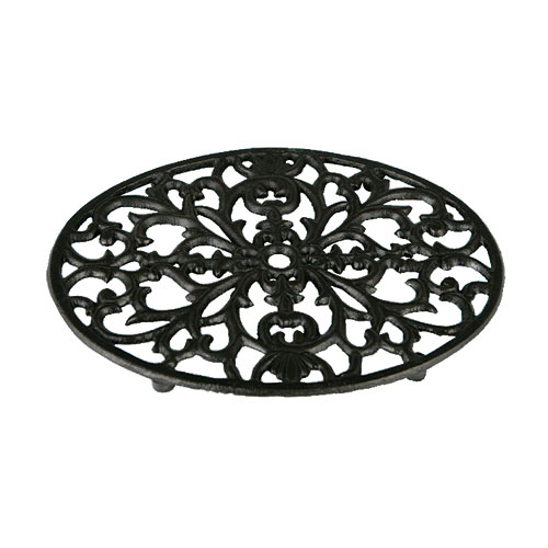 OVAL TRIVET ANTIQUE BLACK