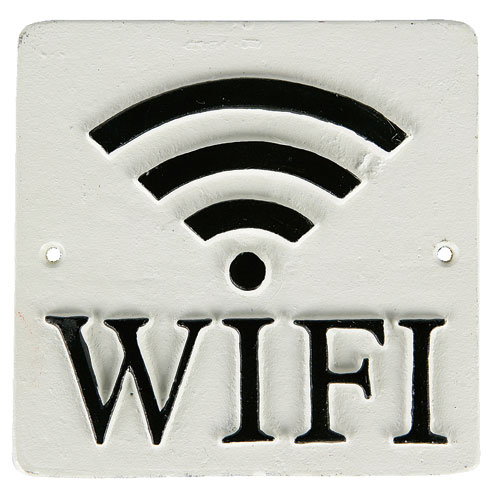 "SQUARE SIGN ""WI-FI"" C.IVR"