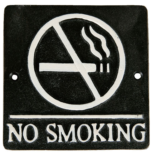 "SQUARE SIGN ""NO SMOKING"" A.BLACK"