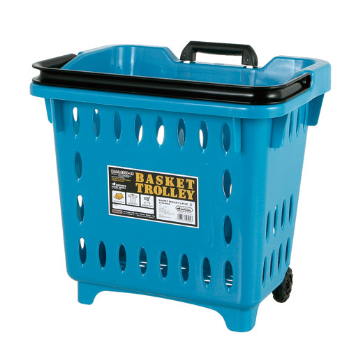 BASKET TROLLEY  L.BLUE