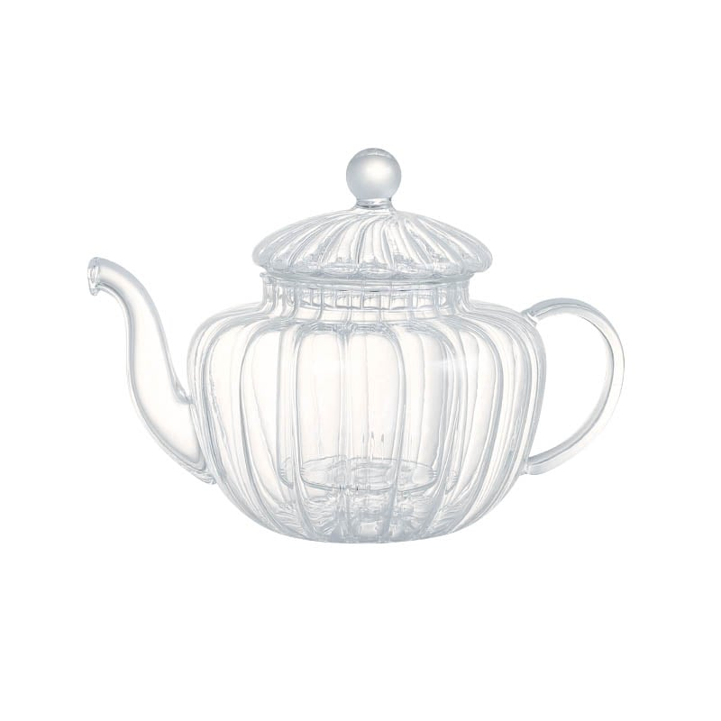 GLASS TEA POT PUMPKIN