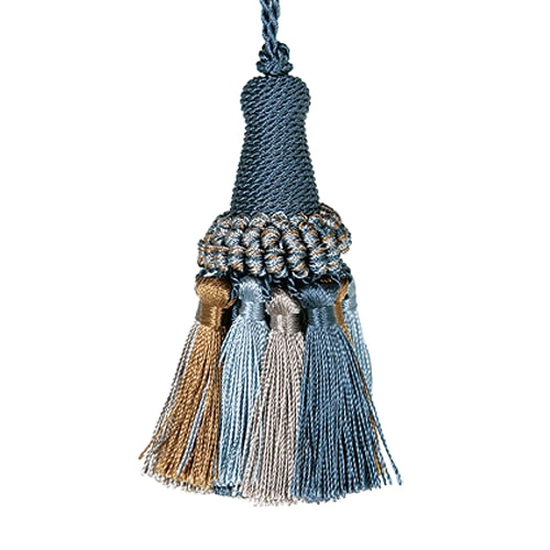 TASSEL  BLUE/BROWN
