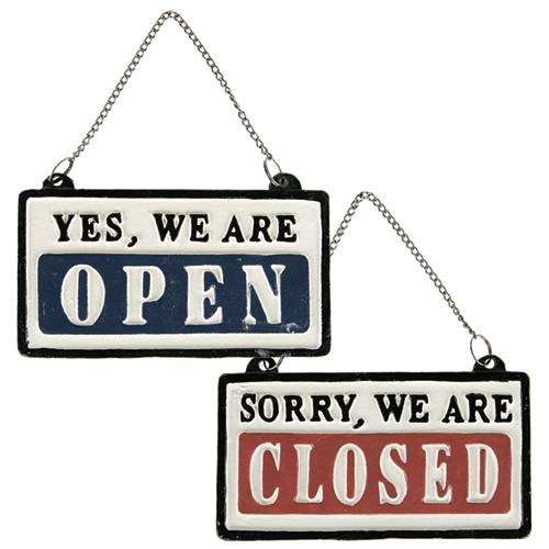 REVERSIBLE SIGN OPEN-CLOSED