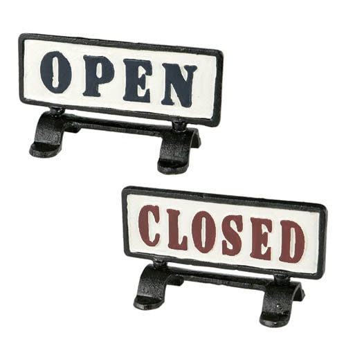 "REVERSIBLE SIGN STAND ""OPEN-CLOSED"""