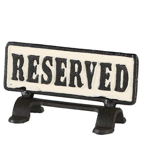 "REVERSIBLE SIGN STAND ""RESERVED"""