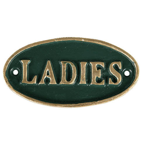 "OVAL SIGN ""LADIES"""
