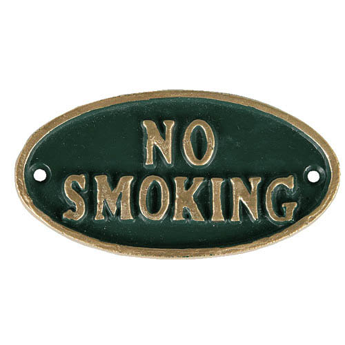 "OVAL SIGN GN ""NO SMOKING"""