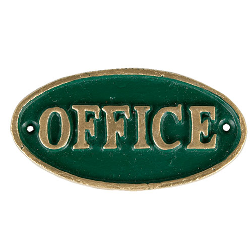 "OVAL SIGN GN ""OFFICE"""