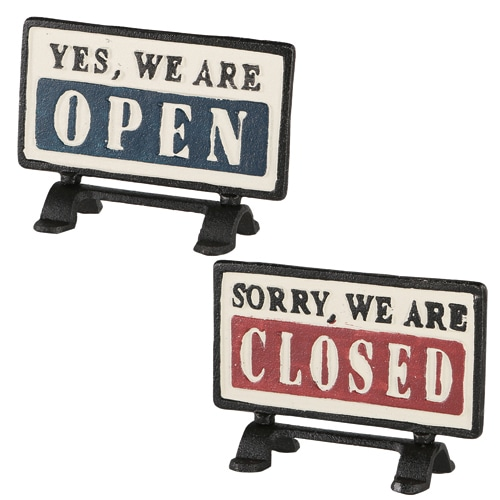 """REVERSIBLE SIGN STAND """"OPEN-CLOSED"""""""