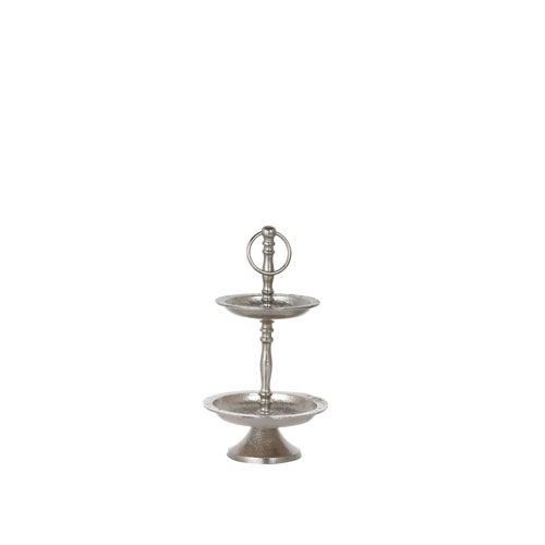 E.P. HOTEL 2 TIERED TRAY  NICKEL