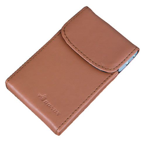 CARD CASE ''Slider'' BROWN