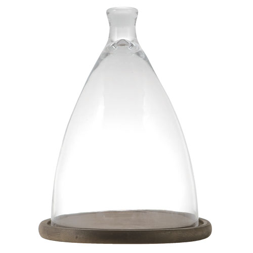 GLASS CLOCHE L