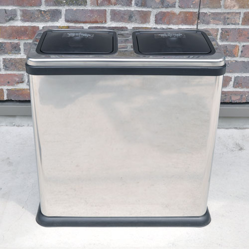 TWIN RUBBISH BIN