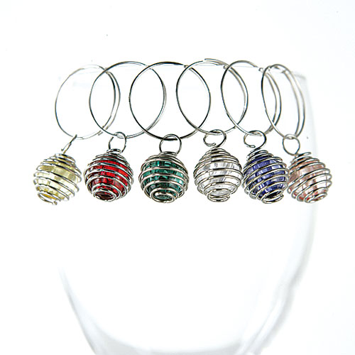 WINE CHARMS 6 colors/set