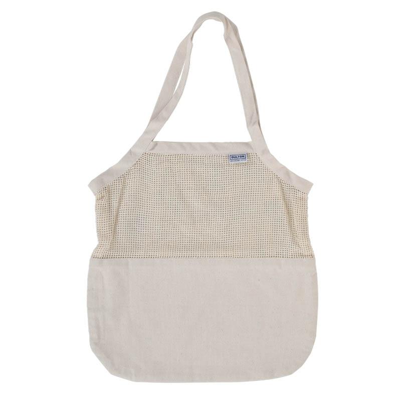 COTTON HALF MESH BAG L