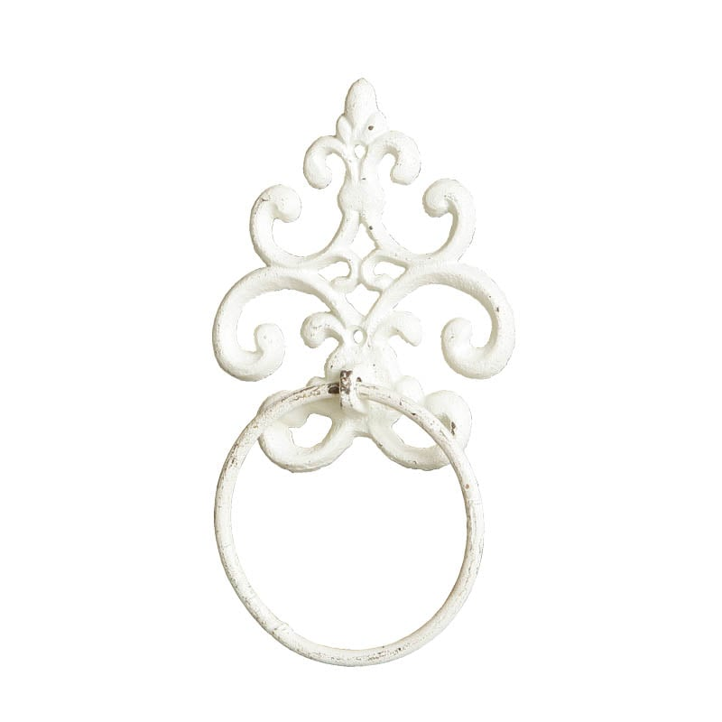 TOWEL RING IVORY