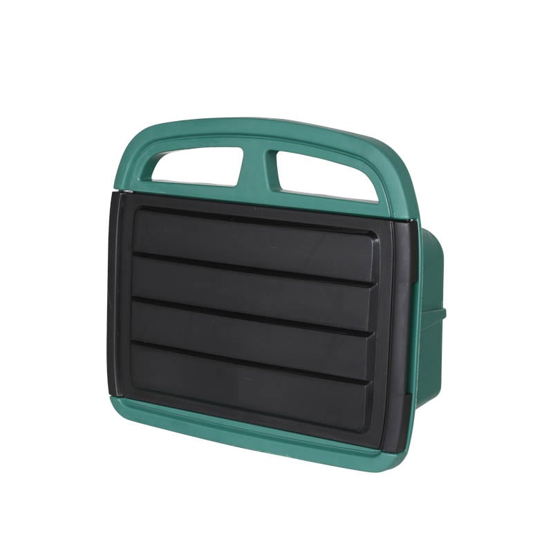 HOSE HANGER WITH STORAGE BIN GREEN