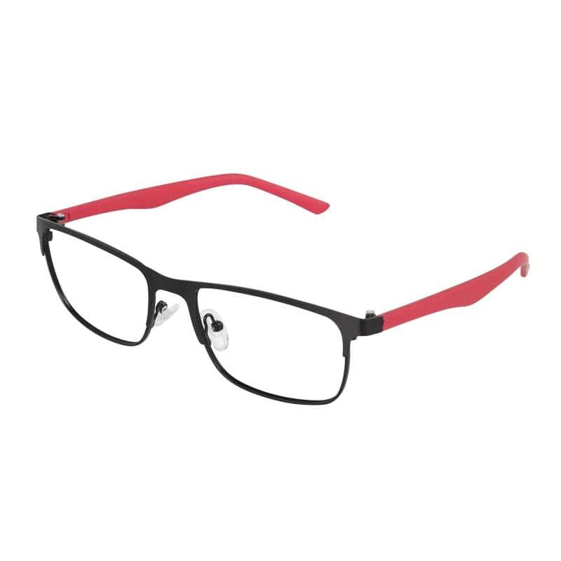 READING GLASSES BLACK_RED